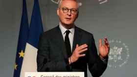 El ministro francés de Finanzas, Bruno Le Maire, en una rueda de prensa