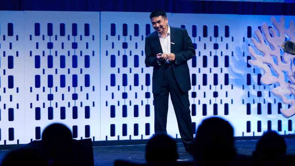 Eric S. Yuan, fundador de Zoom, en una conferencia
