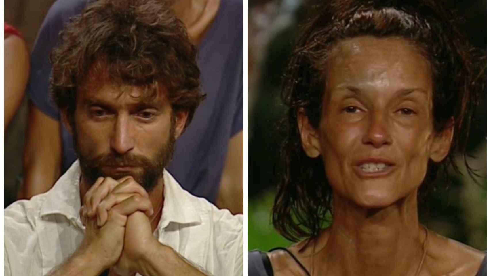Antonio Pavón y Elena, la madre de Adara, en montaje de JALEOS.