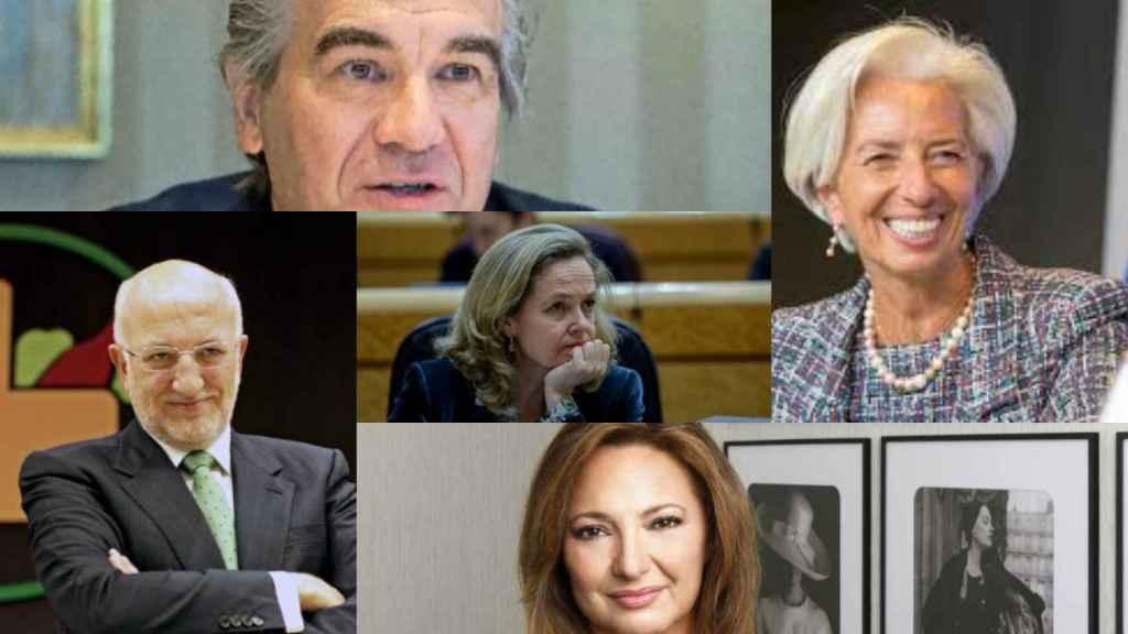 Francisco Reynés, Christine Lagarde, Juan Roig, Nadia Calviño y Marta Álvarez.
