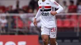 Igor Gomes, durante un partido con el Sao Paulo