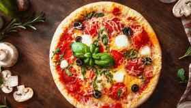 Una suculenta pizza.