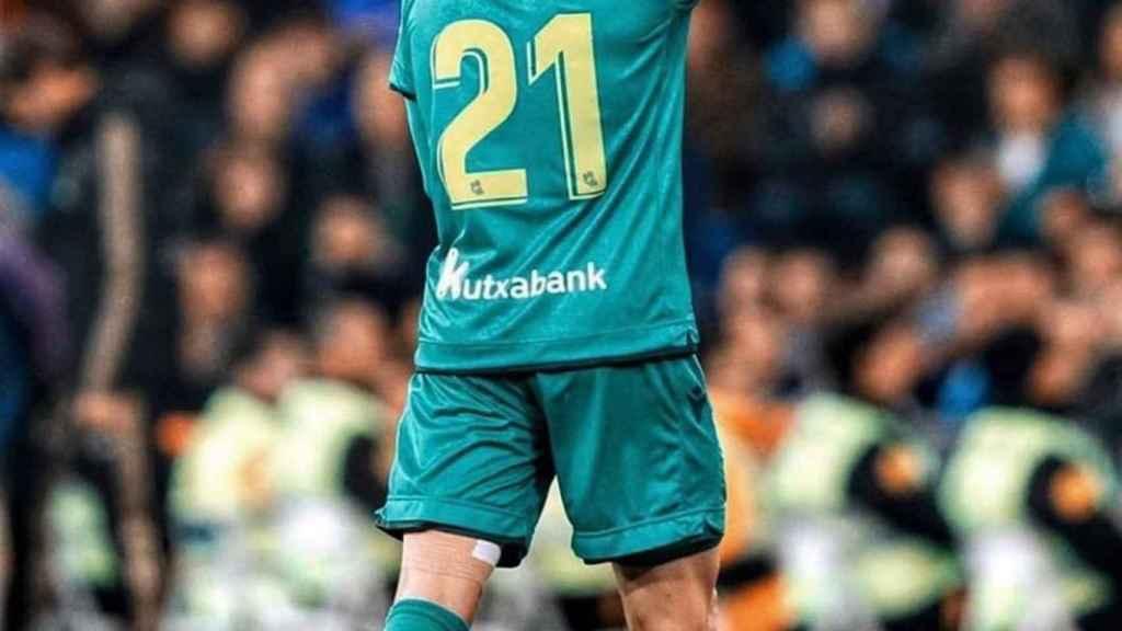 Martin Odegaard, durante un partido con la Real Sociedad