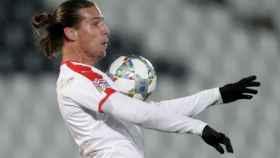 Prijovic, con la selección de Serbia