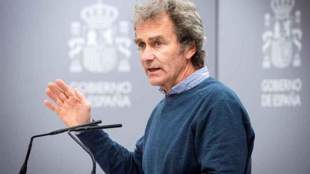 Fernando Simón, en una rueda de prensa, antes de dar positivo por Covid-19.