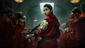 Alba Flores, en el cartel de 'La casa de papel' (Netflix)