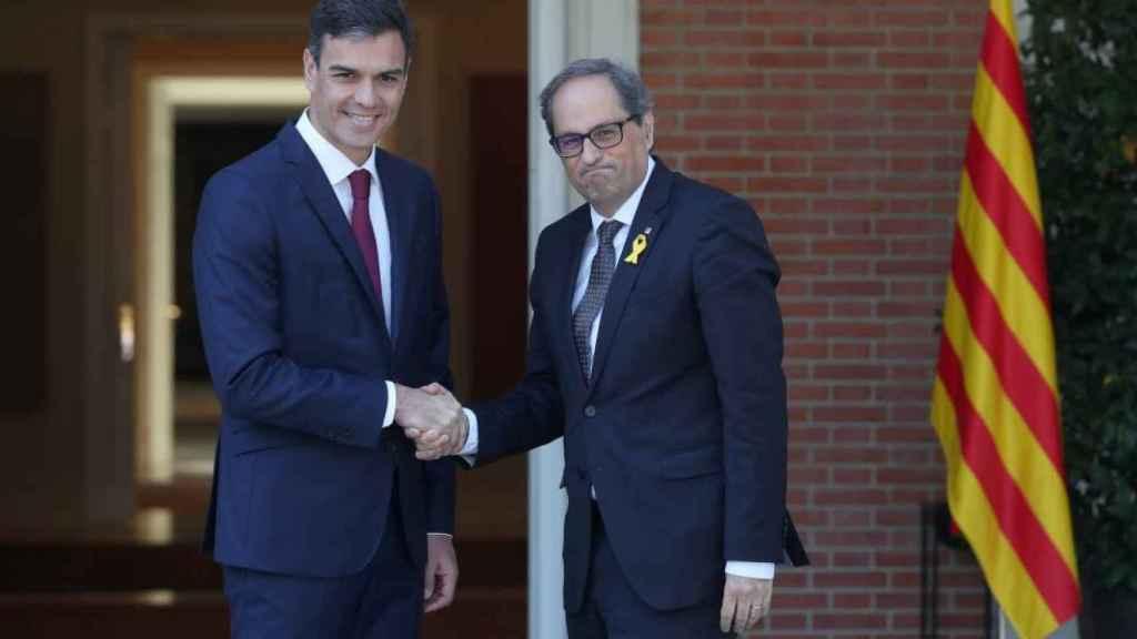 Pedro Sánchez y Quim Torra en una imagen de archivo.