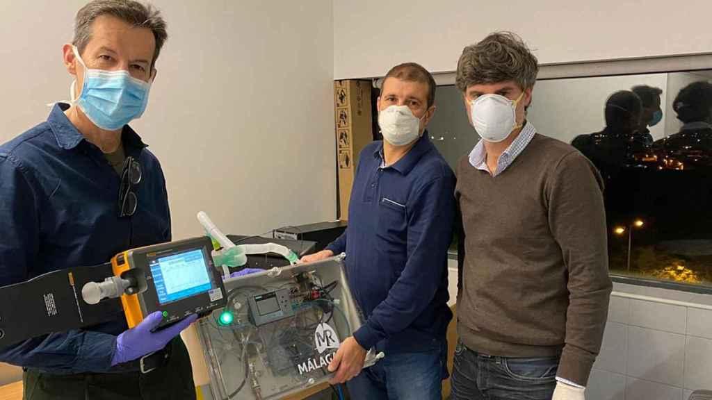 Uno de los ventiladores desarrollado por investigadores de la Universidad de Málaga.