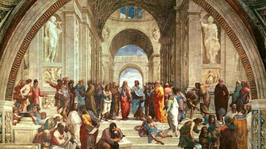 La Escuela de Atenas.