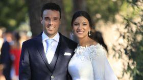 Roberto Bautista y Ana Bodi el día de su boda.