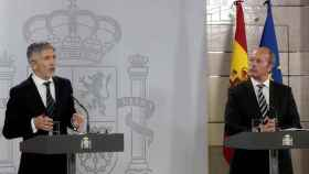 Los ministros de Interior y Justicia, Fernando Grande-Marlaska y Juan Carlos Campo.
