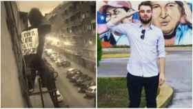 Iago Moreno, el joven del balcón que atiza a Vox por su cacerolada contra el gobierno.