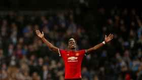 Paul Pogba, durante un partido con el Manchester United