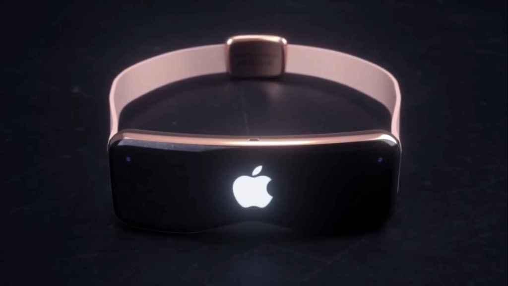 Concepto de gafas de realidad virtual de Apple.