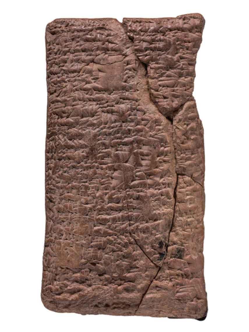 La tabla cuneiforme descifrada por Irving Finkel.
