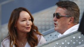 Ana Antic junto a su padre, Radomir Antic, en el Masters de Tenis de Madrid.