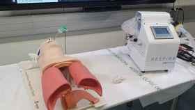 El respirador Respira, durante las pruebas en el Hospital Clínic de Barcelona.