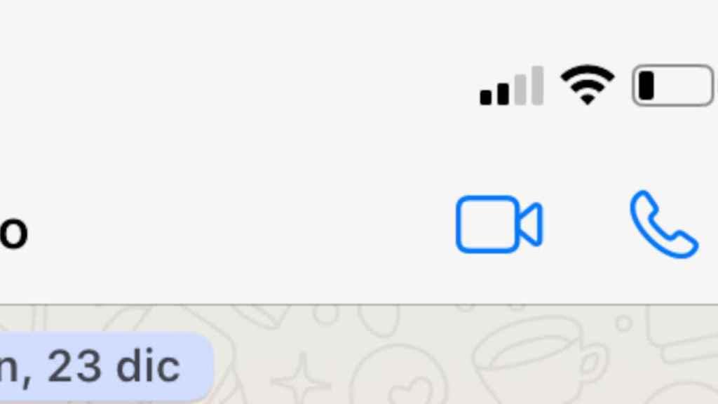 Opciones para realizar videollamadas y llamadas en Whatsapp