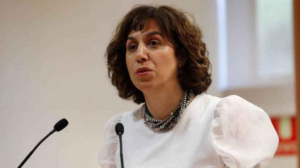 Irene Lozano, durante un acto en el CSD