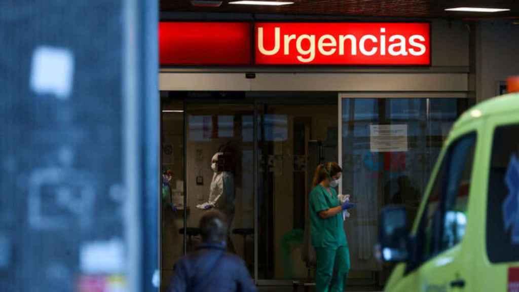 Entrada de urgencias de un hospital.