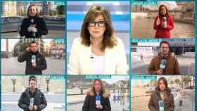 Imagen de algunos de los reporteros que se han 'reciclado' para mantener la cobertura informativa.