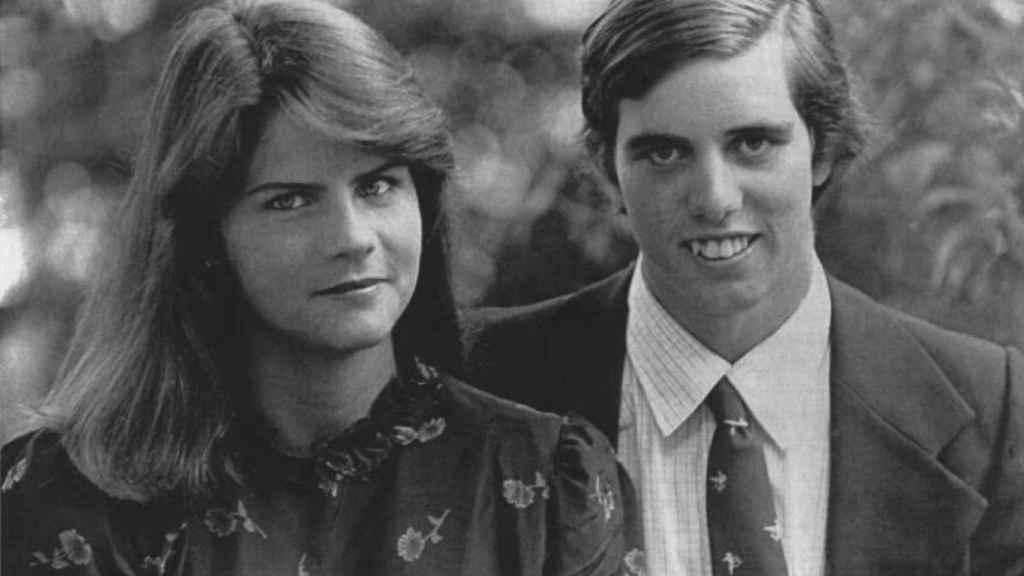 Michael Kennedy junto a su mujer, Victoria Gifford.
