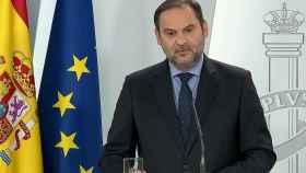 El mistro de Transportes, Movilidad y Agenda, José Luis Ábalos, este miércoles.