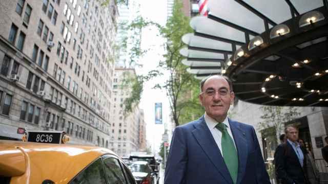 El presidente de Iberdrola, Ignacio Sánchez Galán, en Nueva York.