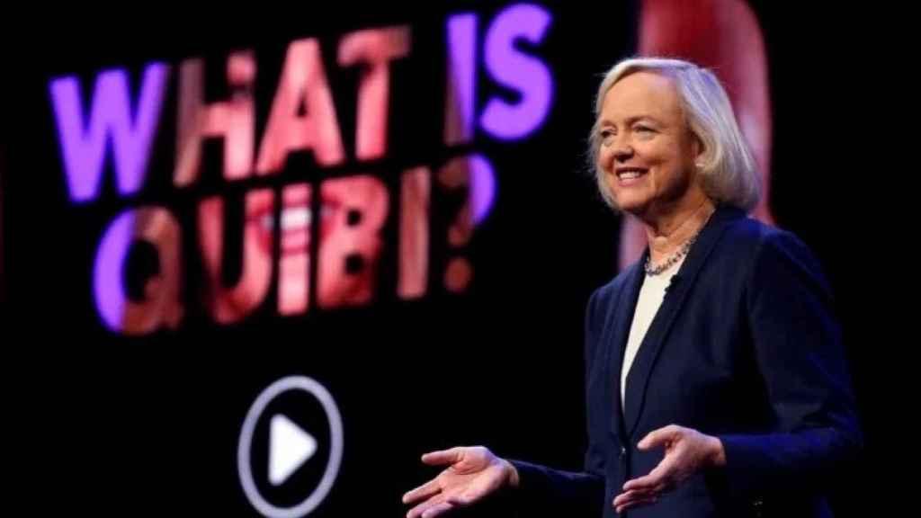Meg Whitman, CEO de Quibi, en la presentación de la plataforma.