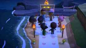 Boda realizada en Animal Crossing: New Horizons.