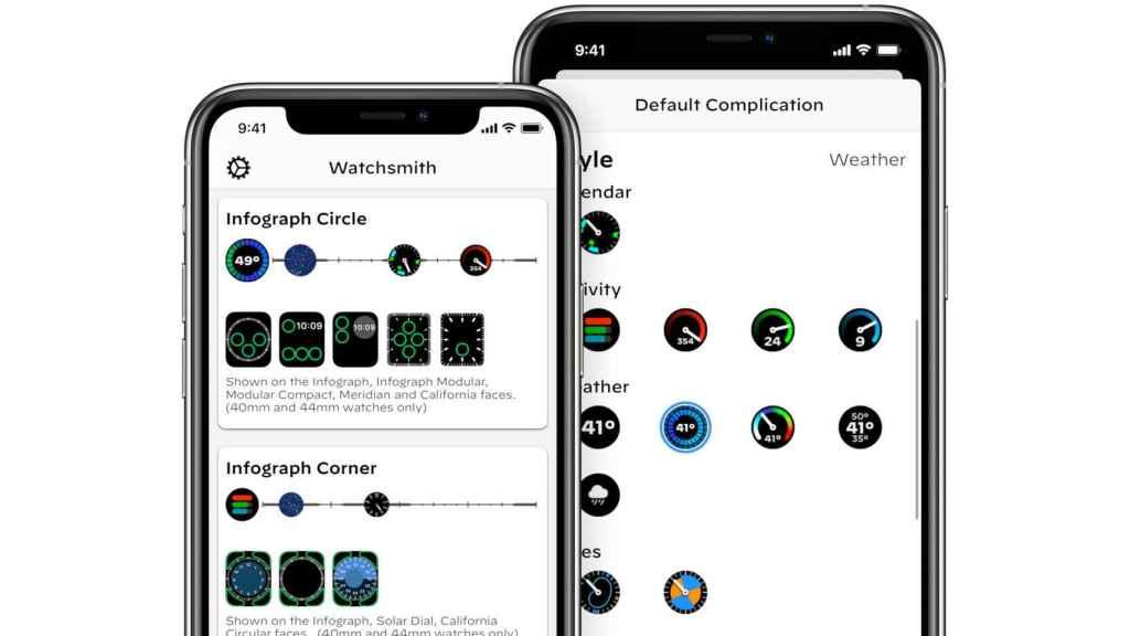 Watchsmith para iOS nos permite configurar complicaciones para el Apple Watch