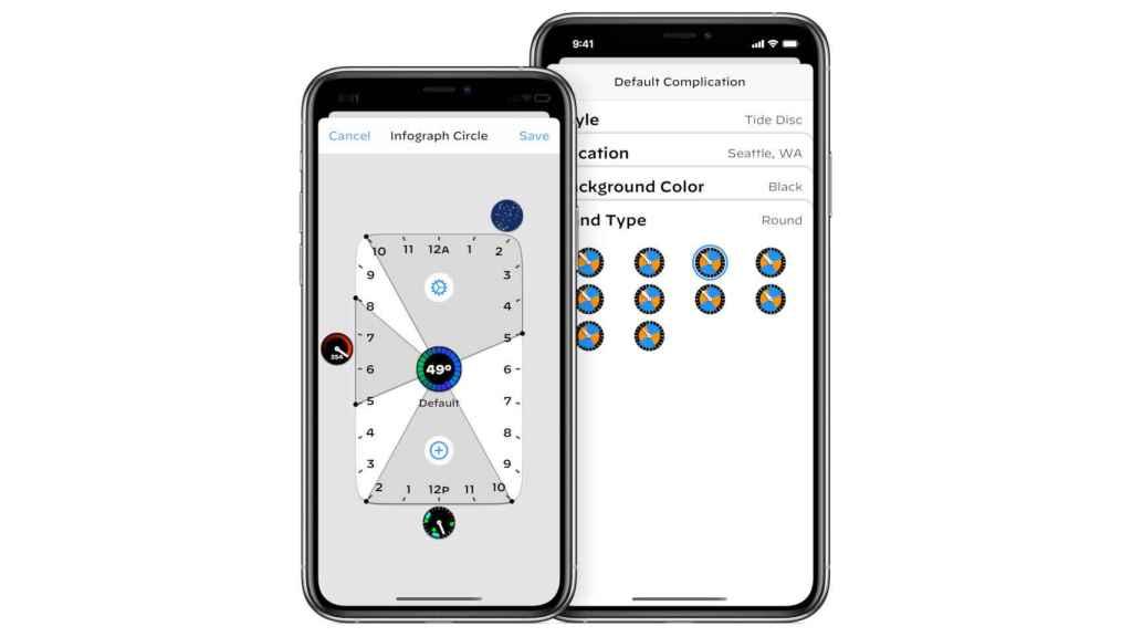 Podemos elegir dónde y cuándo se mostrará la información en nuestro Apple Watch