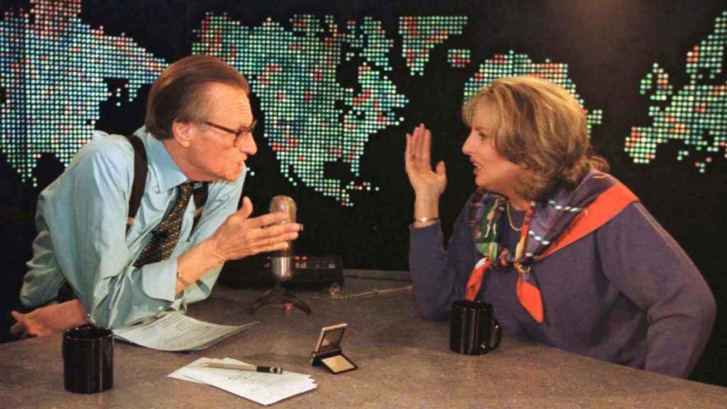 Linda Tripp, en el programa de Larry King.