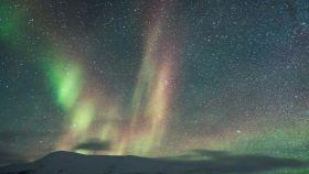 Una imagen de archivo de la aurora boreal.