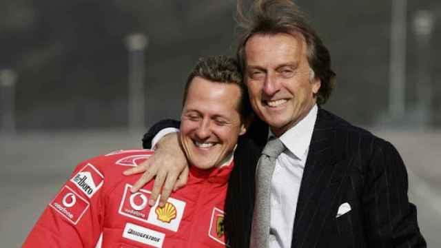 Schumacher y Luca di Montezemolo