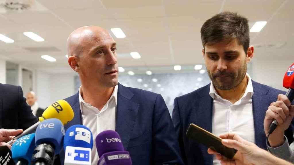 Luis Rubiales y David Aganzo