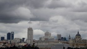 Lluvia en Madrid. EFE/Mariscal