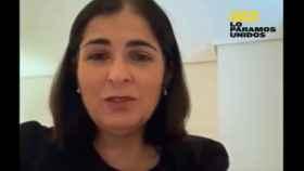 Carolina Darias en uno de los vídeos que ha compartido durante su confinamiento.