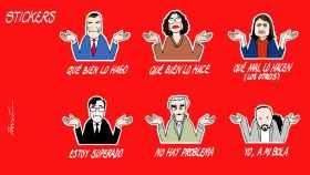Viñeta del presidente y sus ministros en la crisis del coronavirus.