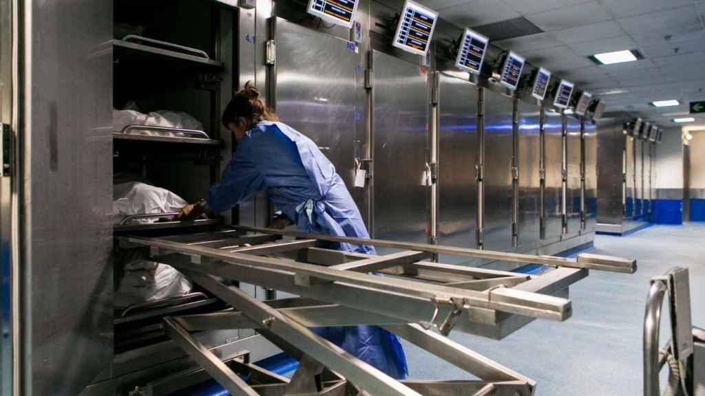 El depósito de cadáveres del Instituto de Medicina Legal de Barcelona.