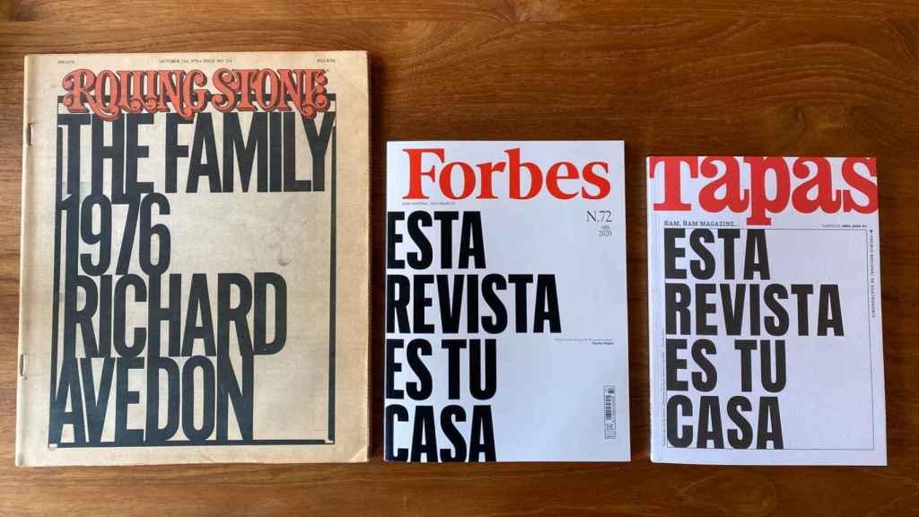 Dos portadas iguales, inspiradas en aquel 'Rolling Stone' de 1976.
