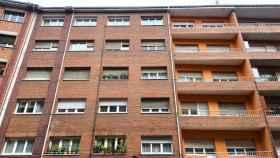 Un edificio de vivienda pública.