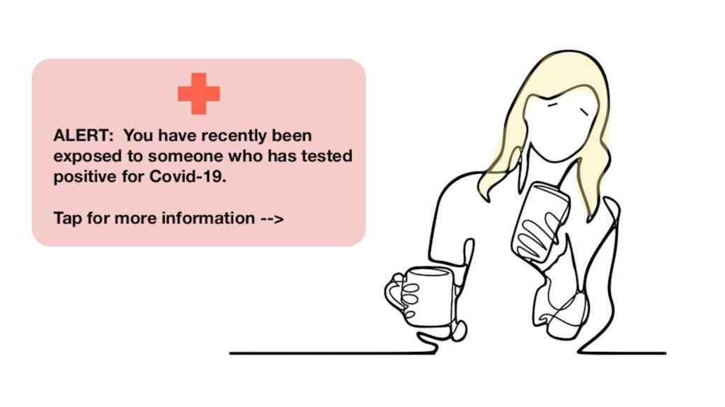 Nuestro móvil nos podrá avisar si hemos entrado en contacto con un contagiado