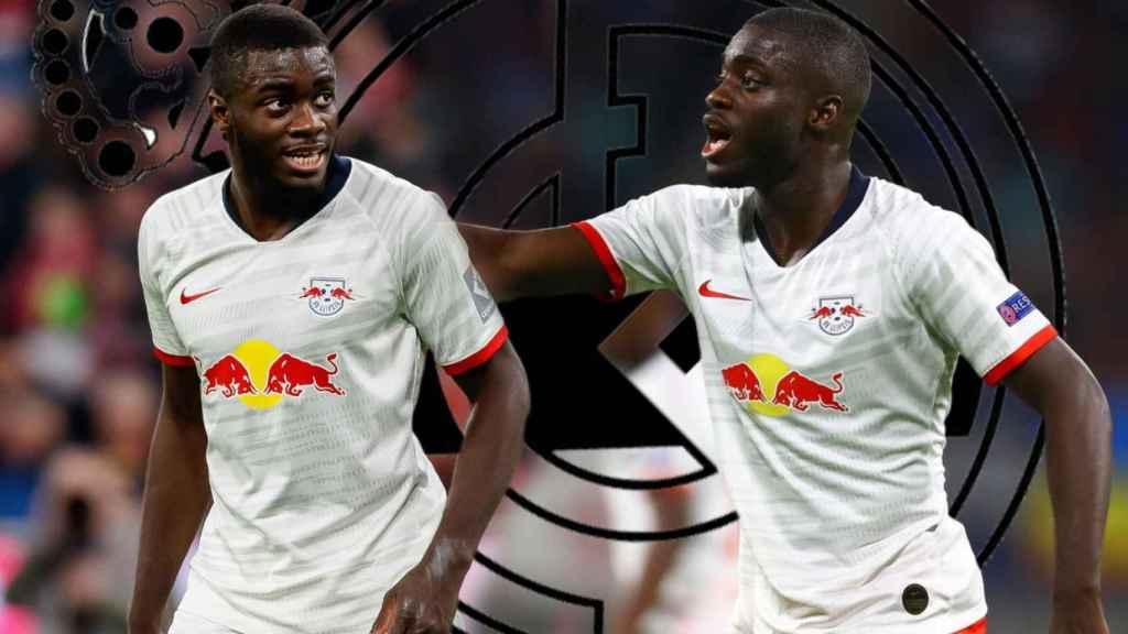 Dayot Upamecano, con el RB Leipzig