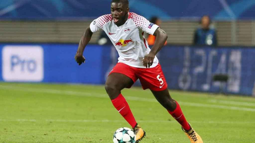 Dayot Upamecano, durante un partido con el RB Leipzig en la Champions League