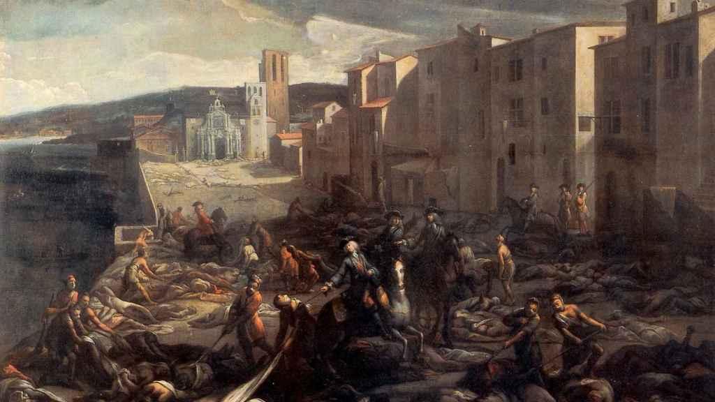 Escena de la peste de 1720 en la Tourette (Marsella).