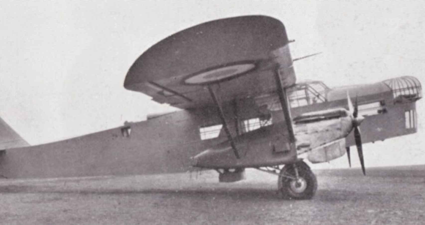 Aircraft Potez 54, modelo utilizado por Roque Carrión en su primera etapa como aviador.
