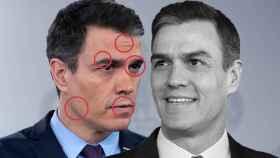 Pedro Sánchez, antes y después de decretar el estado de alarma.