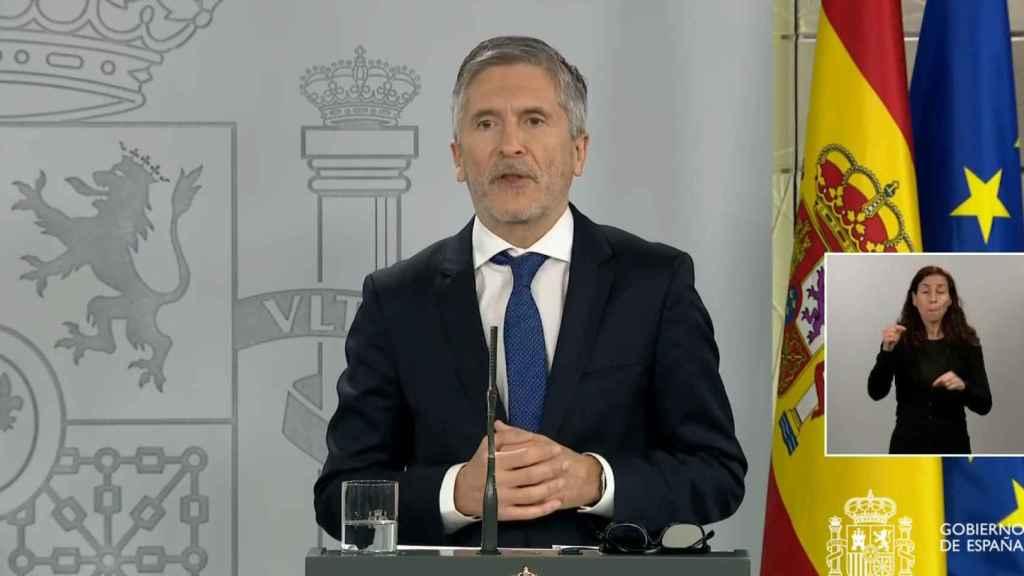 Fernando Grande-Marlaska, ministro del Interior, en la Moncloa.