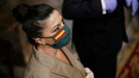 La diputada de Vox Macarena Olona el pasado jueves en el Congreso.
